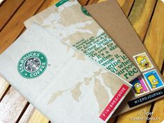 recycled starbucks bags for insert covers.  Notebook Review: Midori Traveler's Journal | Rants of The Archer