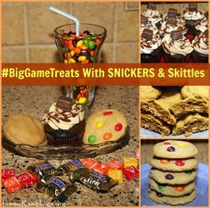 Baking Up #BigGameTreats With SNICKERS® & Skittles®!!! #ad