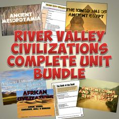 This awesome complete unit bundle features absolutely EVERYTHING you will need for an engaging unit on the Early River Valley Civilizations!