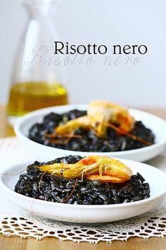 Risotto nero by bognarreni, via Flickr #fingerfood #shopfesta