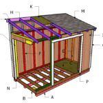 This step by step woodworking project is about free lean to shed plans. If you need more storage space in the backyard, but you are short on space, building this lean to shed will make the most of it. 12x20 Shed Plans, Lean To Shed Plans, Run In Shed, Free Shed Plans, Shed Building Plans, Building Ideas, Wood Storage Sheds, Storage Shed Plans, Diy Storage