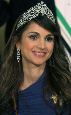 Autres diadèmes d'inspiration islamique celui de Rania de Jordanie