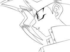 Yugi lineart by Jatob4