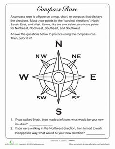 is a Compass Rose? Second Grade Geography Worksheets: What is a Compass Rose?Second Grade Geography Worksheets: What is a Compass Rose? Geography Worksheets, Social Studies Worksheets, 3rd Grade Social Studies, Geography Lessons, Teaching Geography, Social Studies Activities, Teaching Social Studies, Teaching History, What Is Geography
