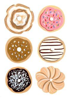 Donut illustration by Ann Shen. #illustration #graphicdesign