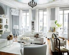 THE PURPLE BOW: SERENE LIVING ROOM, GREY AND...