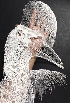 Paper Birds, Paper Artwork, Grid Design, Japanese Paper, Japanese Artists, Paper Cutting, Les Oeuvres, Lion Sculpture, Photo Wall