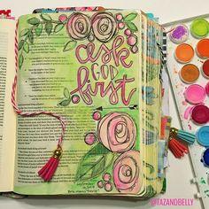 1 Samuel 14:36  draw near to God.   Bible Journaling by Kristin Fields @tazandbelly   2 Samuel