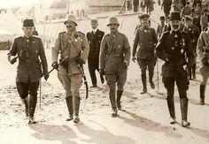 After Battle of Cannakali Wilhelm II, Enver Pasha, Vice Admiral Merten visits Turkey.
