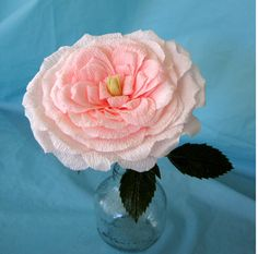 Follow along as I share with you another crepe paper rose I learned to make - the Madame Hardy.