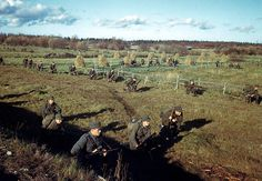 View of a Finnish infantry batallion as it begins to encircling maneuvers against Germans positions in Lapland, Finland, October 1944. Pin by Paolo Marzioli