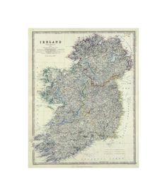 Global Gallery 'Ireland, by Alexander Keith Johnston Framed Wall Art Size: Ireland Map, Map Globe, France, Framed Wall Art, 5 D, Find Art, Wrapped Canvas, Giclee Print, Graphic Art