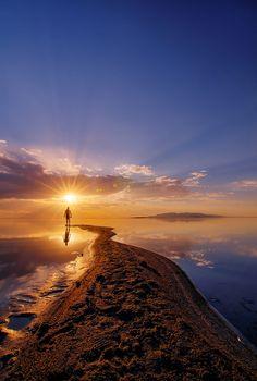 Sunset shot at Antelope Island State Park.