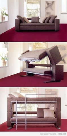 amazing couch bunk bed..um WOW!