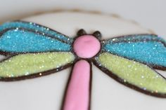 Decorating Cookies with a Kopykake Projector~dragonfly-decorated-cookie-with-disco-dust1~