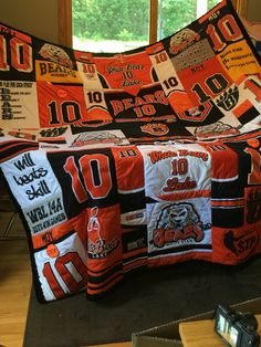Hockey Jersey Quilt 8/15                                                                                                                                                                                 More