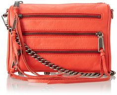 Rebecca Minkoff Mini 5-Zip Convertible Cross Body Bag,Hot Red,One Size Rebecca Minkoff, To enter online shopping Just CLICK on AMAZON right HERE http://www.amazon.com/dp/B00HB0X3V0/ref=cm_sw_r_pi_dp_w6Entb1KAD6W5W36