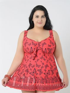 f4963f2be54 Butterfly Print Swimwear Women Push Up Swimsuit Plus Size Bathing Suit Swim  Dress Floral Pad Beachwear Large Size Tankini Set