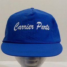 Carrier Parts Blue Snap Back Vintage Baseball Truckers Hat Cap #NoProblemCap #BaseballCap