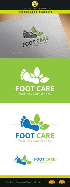 Foot Care Logo Template Vector EPS, AI. Download here: http://graphicriver.net/item/foot-care-logo/12513797?ref=ksioks