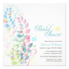 Summer Florals Rainbow Bridal Shower Invites