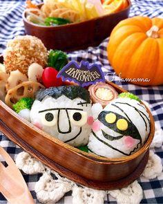 Bento Box, Lunch Box, Japenese Food, Kawaii Bento, Food Art, Emilio, Japanese, Halloween Ideas, Cartoon