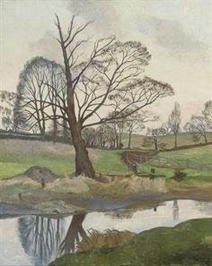 John Northcote Nash, R. River in Winter signed 'John Nash' (lower right) oil on canvas 30 x 24 in. x 61 cm. Landscape Artwork, Cool Landscapes, Henry Moore, John Nash, English Artists, British Artists, Tree Artwork, European Paintings, Art For Art Sake