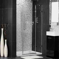 Carrelage douche à l\'italienne faïence noire mate | Bathroom ...