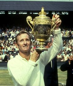 """Rod Laver 1968  - He also won eight Pro Slam titles, including the calendar year Pro """"Grand Slam""""[12][13] in 1967, and contributed to five Davis Cup titles for Australia during an age when Davis Cup was deemed as significant as the Grand Slams.[14]Rod Laver - Australian tennis star of the 1960s"""