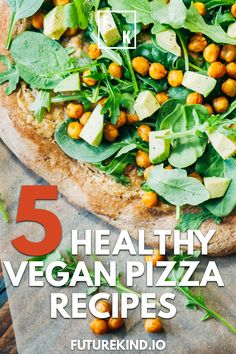 Theres nothing tastier than a healthy vegan pizza except maybe 5 healthy vegan pizza recipes to choose from Love italian pizza Weve got you covered Dont worry this is how. Vegan Recipes Videos, Delicious Vegan Recipes, Pizza Recipes, Vegetarian Recipes, Tasty, Vegan Benefits Health, Vegan Nutrition, Health Tips, Vegan Pizza Recipe