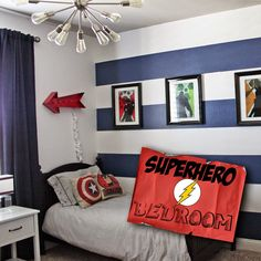 a little of this, a little of that: {Boys} Superhero Room Tour
