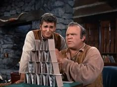 """Little Joe is about to ruin Hoss's chances at beating his record from """"Escape to Ponderosa"""""""