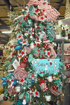 aqua red teal christmas tree christmas tree themes xmas decorations christmas 2016 - Aqua Christmas Tree