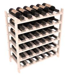 36 Bottle Stackable Wine Shelving - Pine