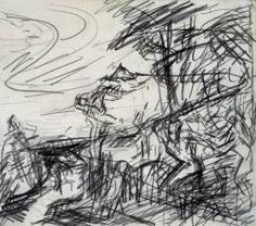 Frank Auerbach, 'Sketch from Titian's 'Bacchus and Ariadne'' 1970–1. ill-defined swirls try to recapture Titian.