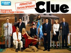Arrested Development CLUE - you can print the board and cards to diy it!