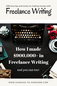 Do you want to make some money on the side or earn a (more than) fulltime income with freelance writing? I'll tell you all about how I made over 900,000 dollars with Freelance Writing! First: how do you get started?