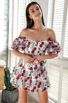 17f3036e2 #Womens #OffShoulder #Romper With #Print – #Zorket Cool Outfits, Dress