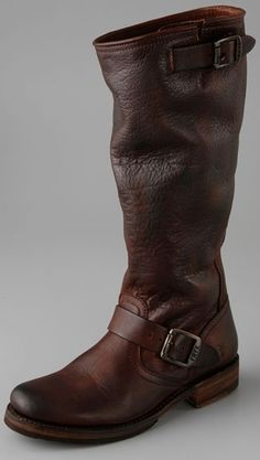 Frye boots. I would spend the money for these.