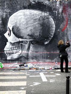"""Monsieur Qui, Paris - """"Street art is a slut"""" Graffiti Murals, Murals Street Art, Art Mural, Street Art Graffiti, Best Street Art, Amazing Street Art, Amazing Art, Awesome, Banksy"""