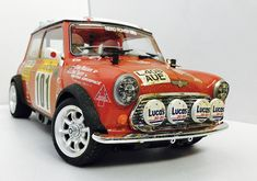 Tamiya Mini Cooper S Rally of Monte Carlo 1994. M-05 chassis. Homemade interior. Build by RC Car&Bodyshop.