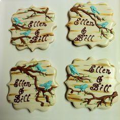 Birch tree wedding cookies. Cookies by Franci.
