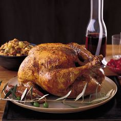 Perfect Roast Turkey | Note that you'll need to brine this turkey for 10 to 12 hours before roasting it. Don't worry if a small portion of the turkey is not submerged in the brine.