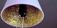 DIY : comment faire scintiller l'intérieur de son abat-jour | tuto déco