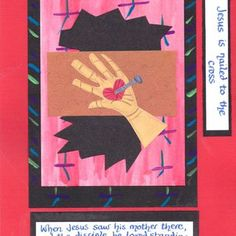 Stations of the cross 11 Holy Week, Bible Crafts, Lessons For Kids, Lent, Catholic, Original Artwork, Prayers, Easter, Activities