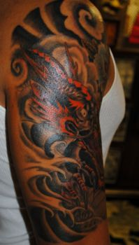 f028f34b3 Japnese dragon Tattoo by The Red Parlour Tattoo Woodside Queens NY NY NYC
