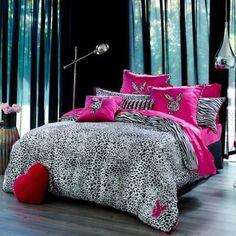 Buy Quilt Covers Online - Playboy Animal Instinct at Adairs. Bedroom Bed, Dream Bedroom, Bedroom Decor, Bedrooms, Bedroom Ideas, Zebra Print Bedding, Dreams Beds, Bed Spreads, My Dream Home