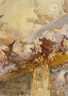 John Singer Sargent - Tiepolo Ceiling, Milan