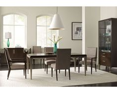Make a style statement by displaying a favorite collection on the wall or in a cabinet in your dining room. We love this dining set from Thomasville's Ave A collection! Find it and other great furniture at West Coast Living