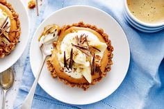 Bananas, caramel, cream and crunchy Anzac biscuits - who could resist a banoffee pie?